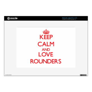 Keep calm and love Rounders Large Netbook Decals