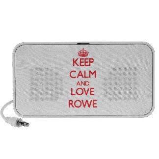 Keep calm and love Rowe Notebook Speaker