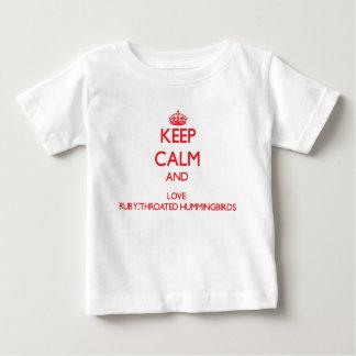 Keep calm and love Ruby-Throated Hummingbirds Tees