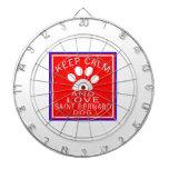 Keep Calm And Love Saint Bernard Dart Board