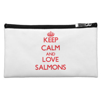 Keep calm and love Salmons Makeup Bags