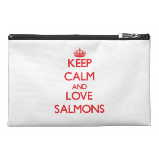 Keep calm and love Salmons Travel Accessory Bag