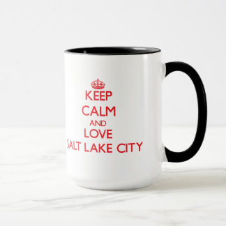 Keep Calm and Love Salt Lake City Mug