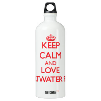Keep calm and love Saltwater Fish SIGG Traveler 1.0L Water Bottle