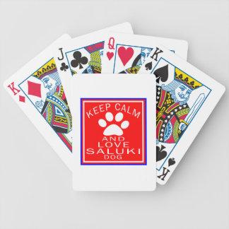 Keep Calm And Love Saluki Playing Cards