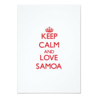 "Keep Calm and Love Samoa 5"" X 7"" Invitation Card"