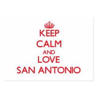 Keep Calm and Love San Antonio Large Business Card