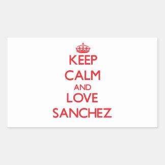 Keep calm and love Sanchez Rectangle Sticker