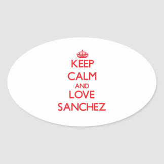 Keep calm and love Sanchez Stickers