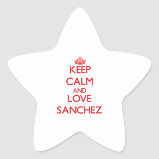 Keep calm and love Sanchez Star Stickers