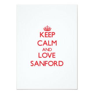 Keep calm and love Sanford Cards