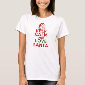 Keep Calm and Love Santa T-Shirt