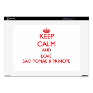 "Keep Calm and Love Sao Tomae & Principe 15"" Laptop Skins"