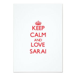 Keep Calm and Love Sarai 5x7 Paper Invitation Card