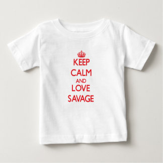 Keep calm and love Savage Baby T-Shirt