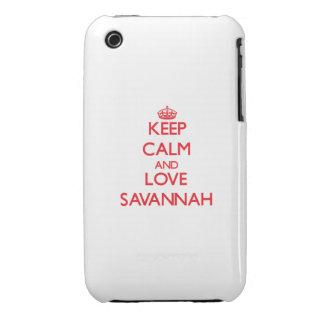 Keep Calm and Love Savannah iPhone 3 Case