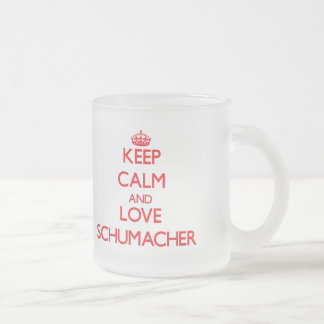 Keep calm and love Schumacher 10 Oz Frosted Glass Coffee Mug