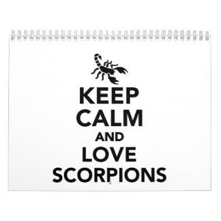 Keep calm and love scorpions calendar