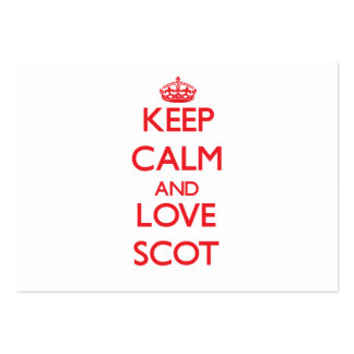 Keep Calm and Love Scot Business Card Template