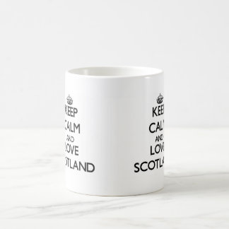 Keep Calm and Love Scotland Coffee Mug