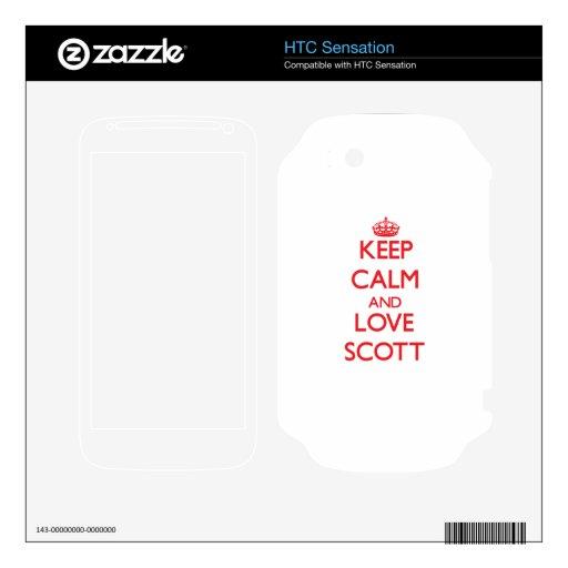Keep calm and love Scott HTC Sensation Decal