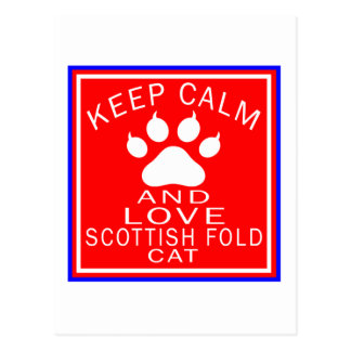 Keep Calm And Love Scottish Fold Postcards