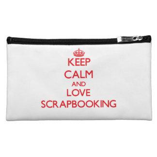 Keep calm and love Scrapbooking Makeup Bags