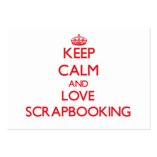 Keep calm and love Scrapbooking Large Business Cards (Pack Of 100)