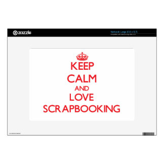 Keep calm and love Scrapbooking Skin For Netbook