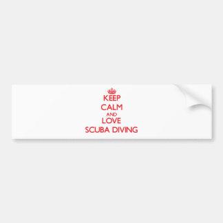 Keep calm and love Scuba Diving Car Bumper Sticker