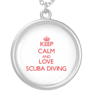 Keep calm and love Scuba Diving Custom Necklace