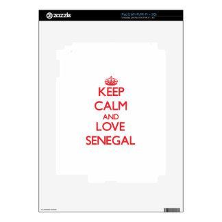 Keep Calm and Love Senegal Skin For The iPad 2