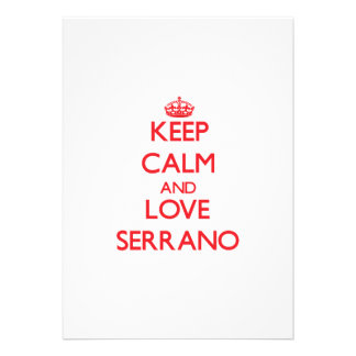 Keep calm and love Serrano Personalized Announcement