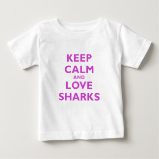 Keep Calm and Love Sharks Baby T-Shirt