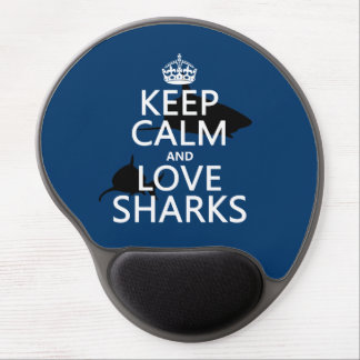 Keep Calm and Love Sharks (customizable colors) Gel Mouse Pad