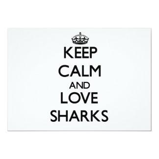 Keep calm and Love Sharks Invites