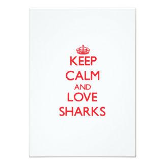 Keep calm and love Sharks Card
