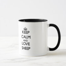 Keep calm and Love Sheep Mug