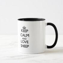 Keep calm and Love Sheep Mug