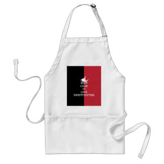 Keep Calm and Love Shootfighting Adult Apron