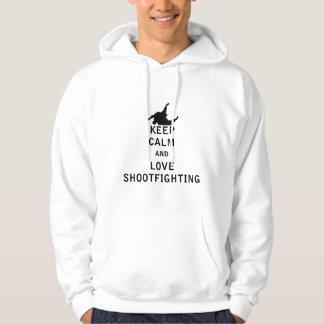 Keep Calm and Love Shootfighting Hoodie