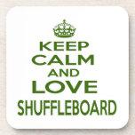 Keep Calm And Love Shuffleboard Coaster