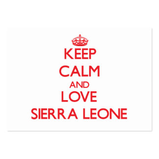 Keep Calm and Love Sierra Leone Business Card Template