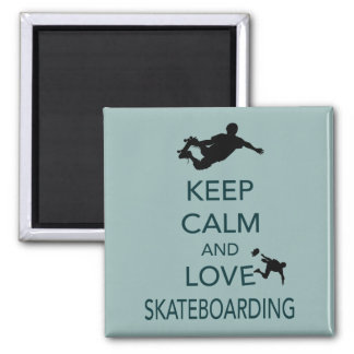 Keep Calm and Love Skateboarding unique print Magnet