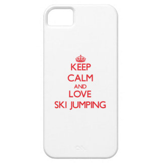 Keep calm and love Ski Jumping iPhone 5 Case