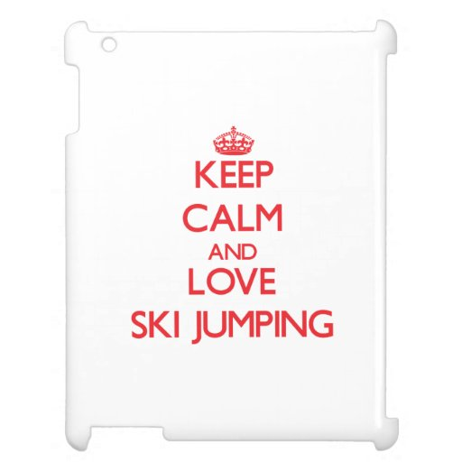 Keep calm and love Ski Jumping Case For The iPad 2 3 4