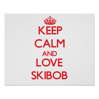 Keep calm and love Skibob Poster