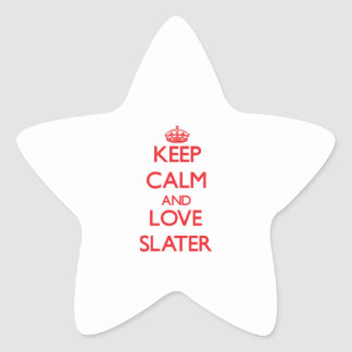 Keep calm and love Slater Star Stickers