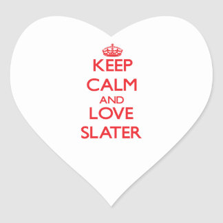 Keep calm and love Slater Stickers