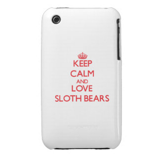 Keep calm and love Sloth Bears Case-Mate iPhone 3 Case